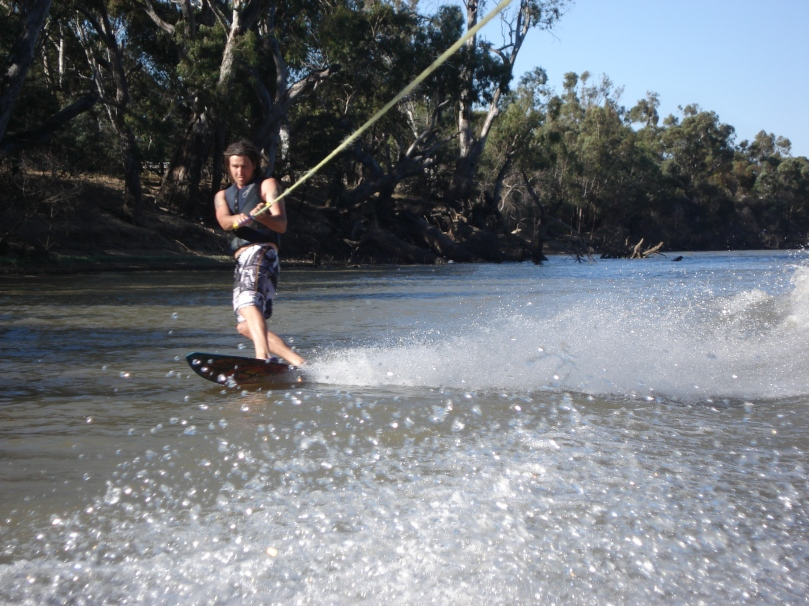 Bit of wake boarding action