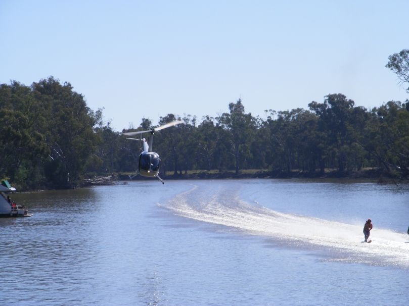 Helicopter filming the Southern 80