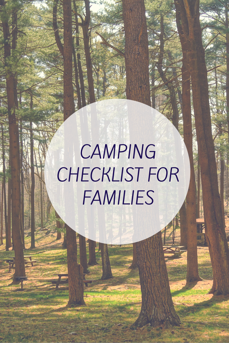 camping checklist for families let me be free