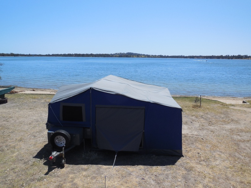Camp at Lake Towerrinning