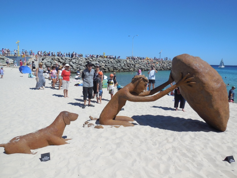 Sculptures by the sea Pilgram