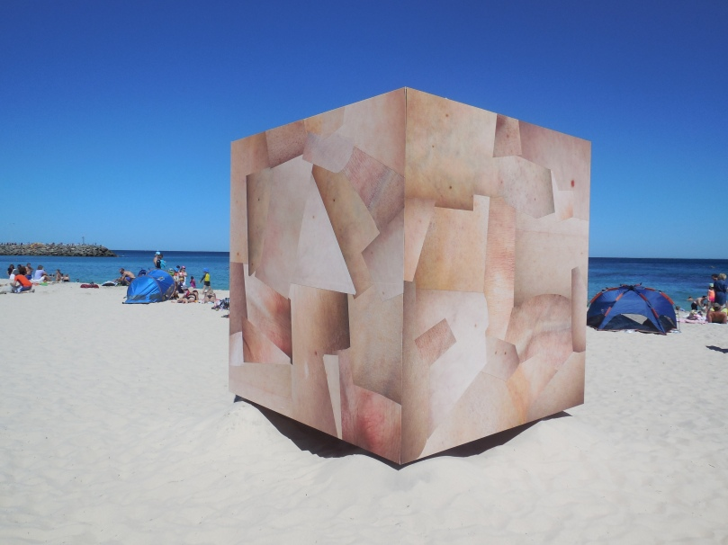 Sculptures by the sea Skin Cube