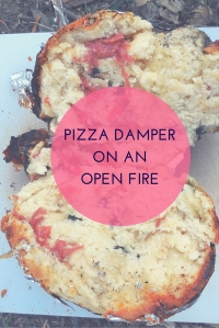 Pizza Damper on an open fire