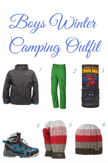 Boys winter camping outfit