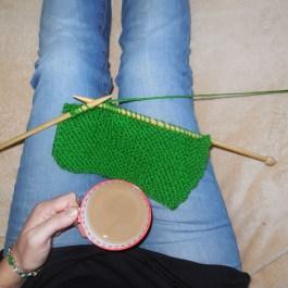 Self portrait Knitting