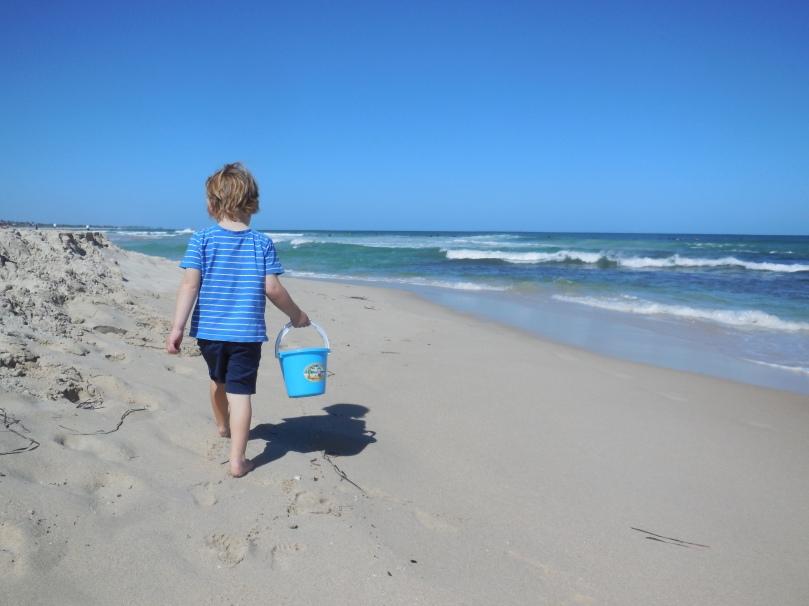 Trigg Beach Combing.JPG