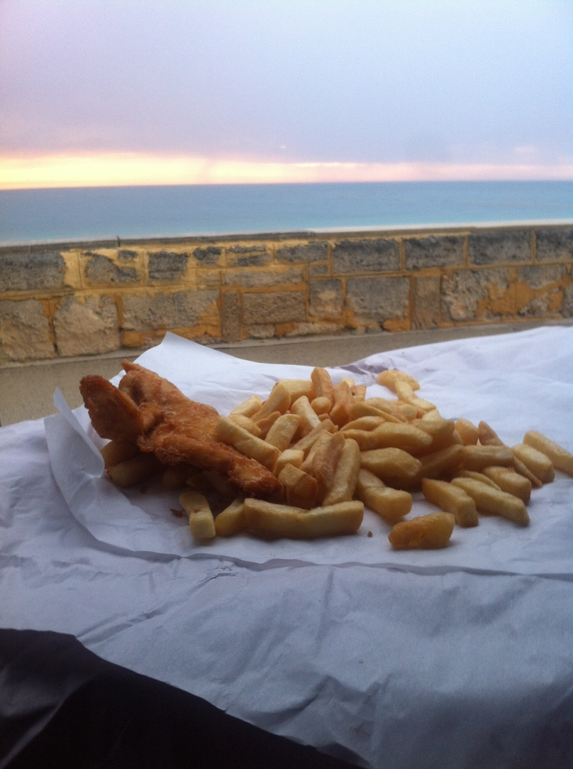 Fish and Chips at beach