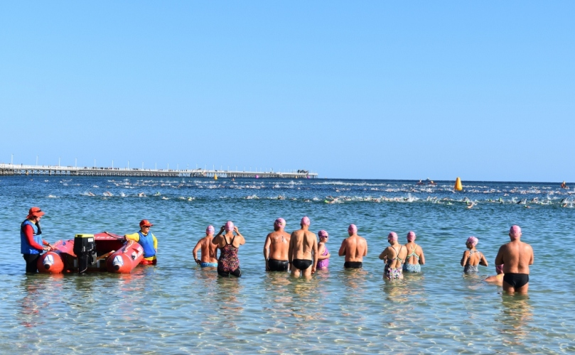 Busselton Jetty Swim Pink Caps.jpg