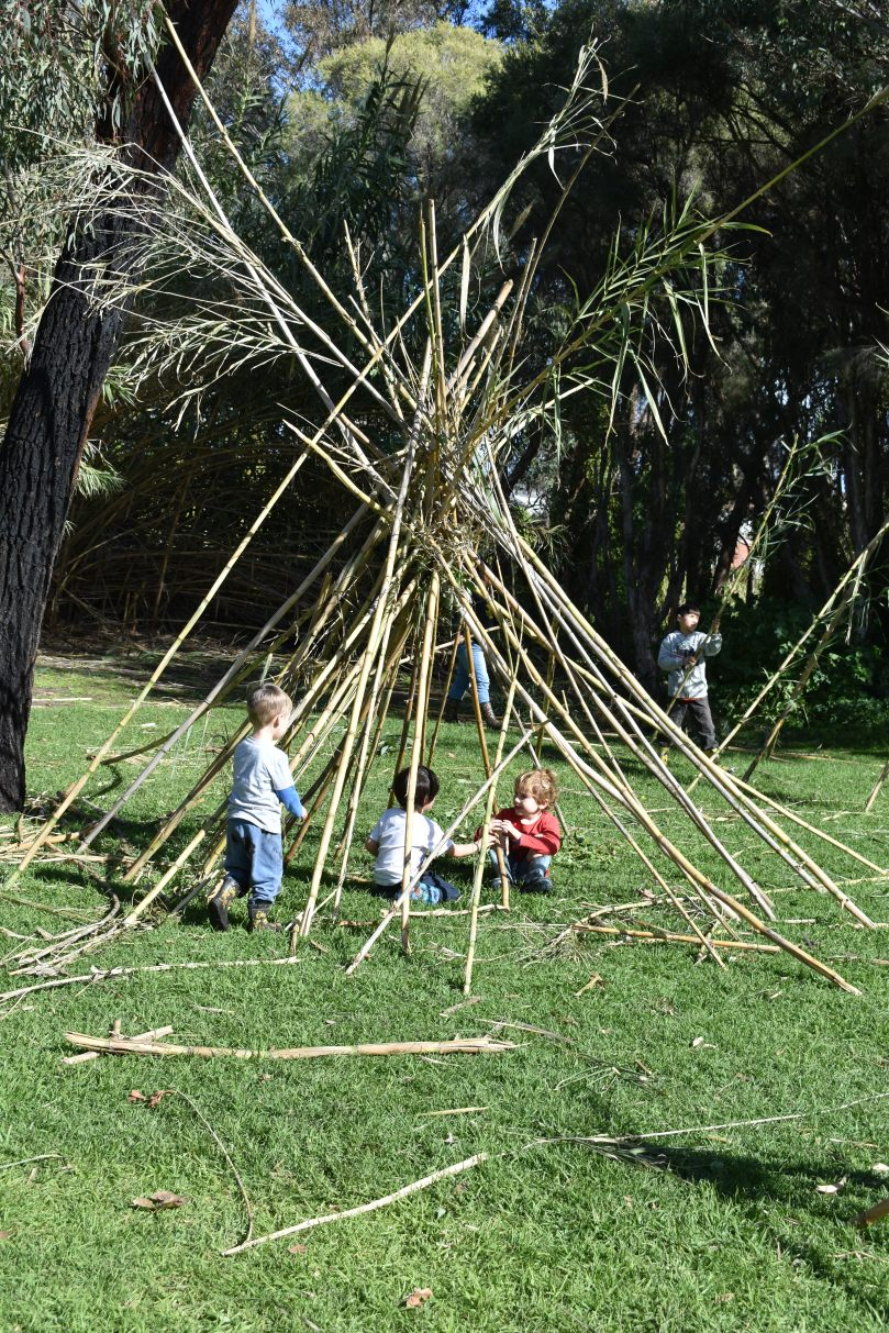 Teepee at Secret Garden